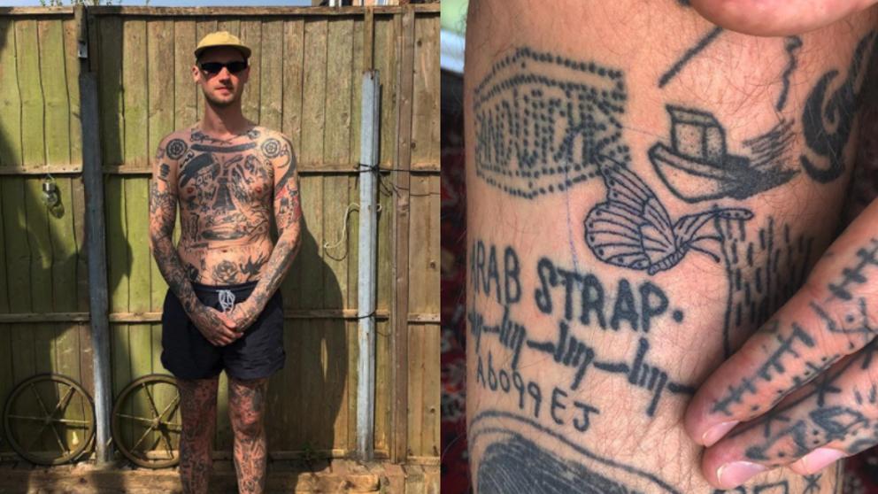 Se tatua un tatuaje nuevo por cada día de cuarentena